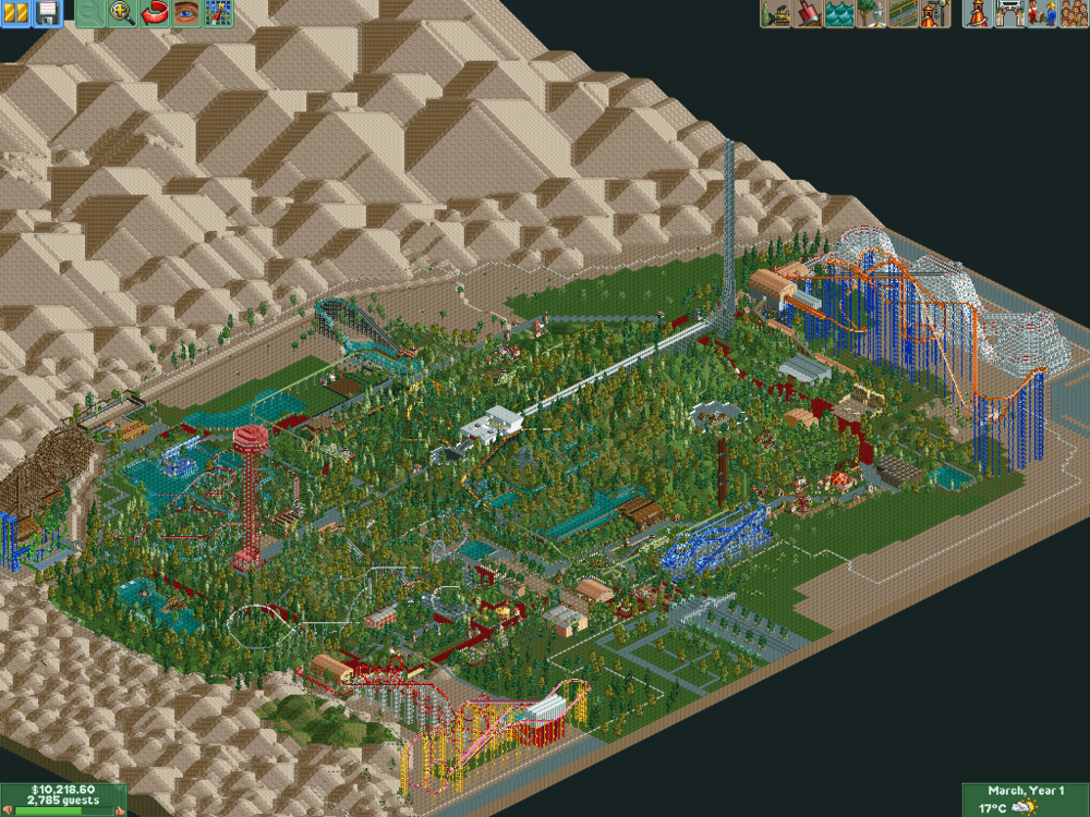 Magic Mountain, Roller Coaster Tycoon 2