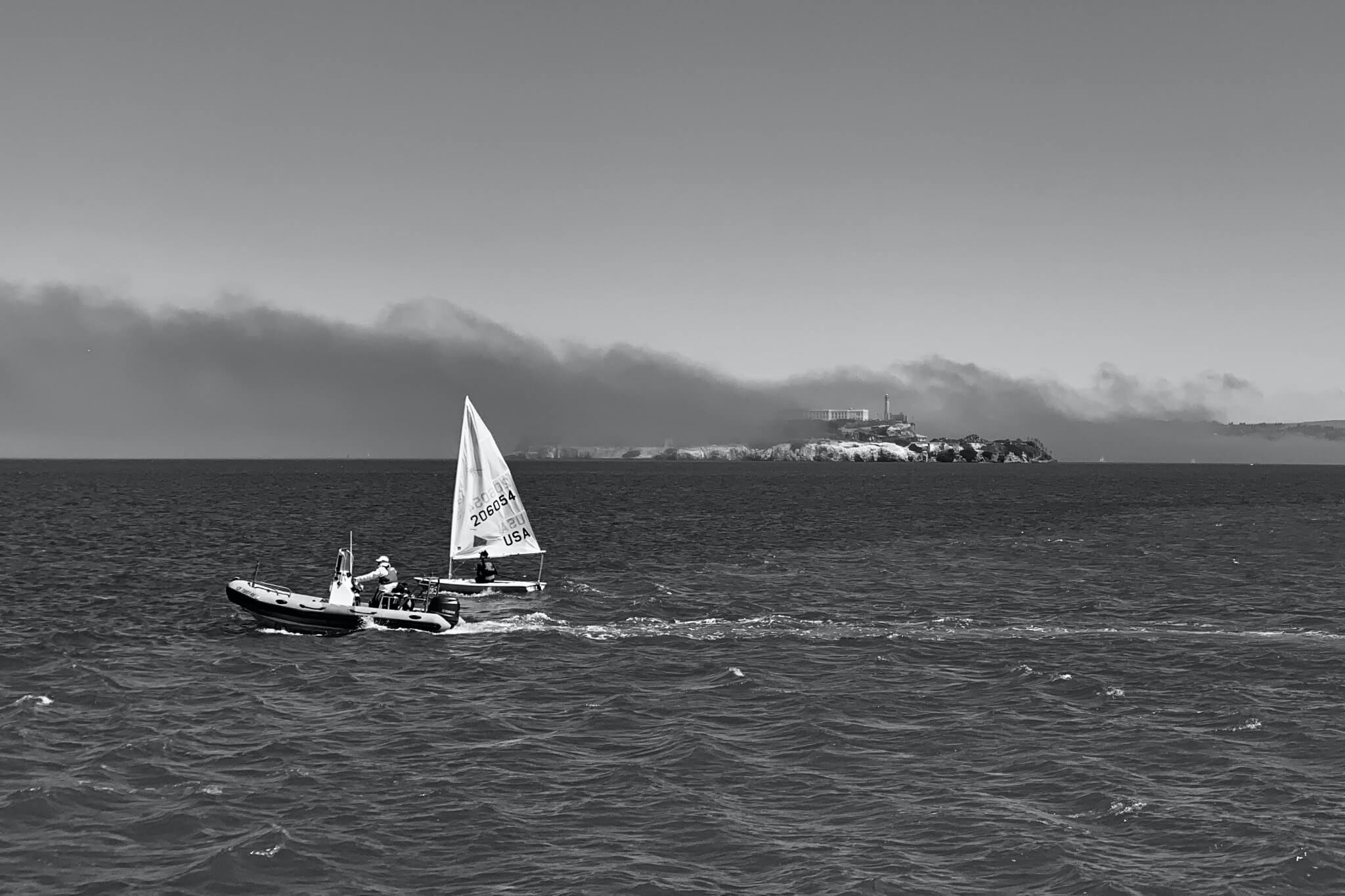 Sea fog over Alcatraz