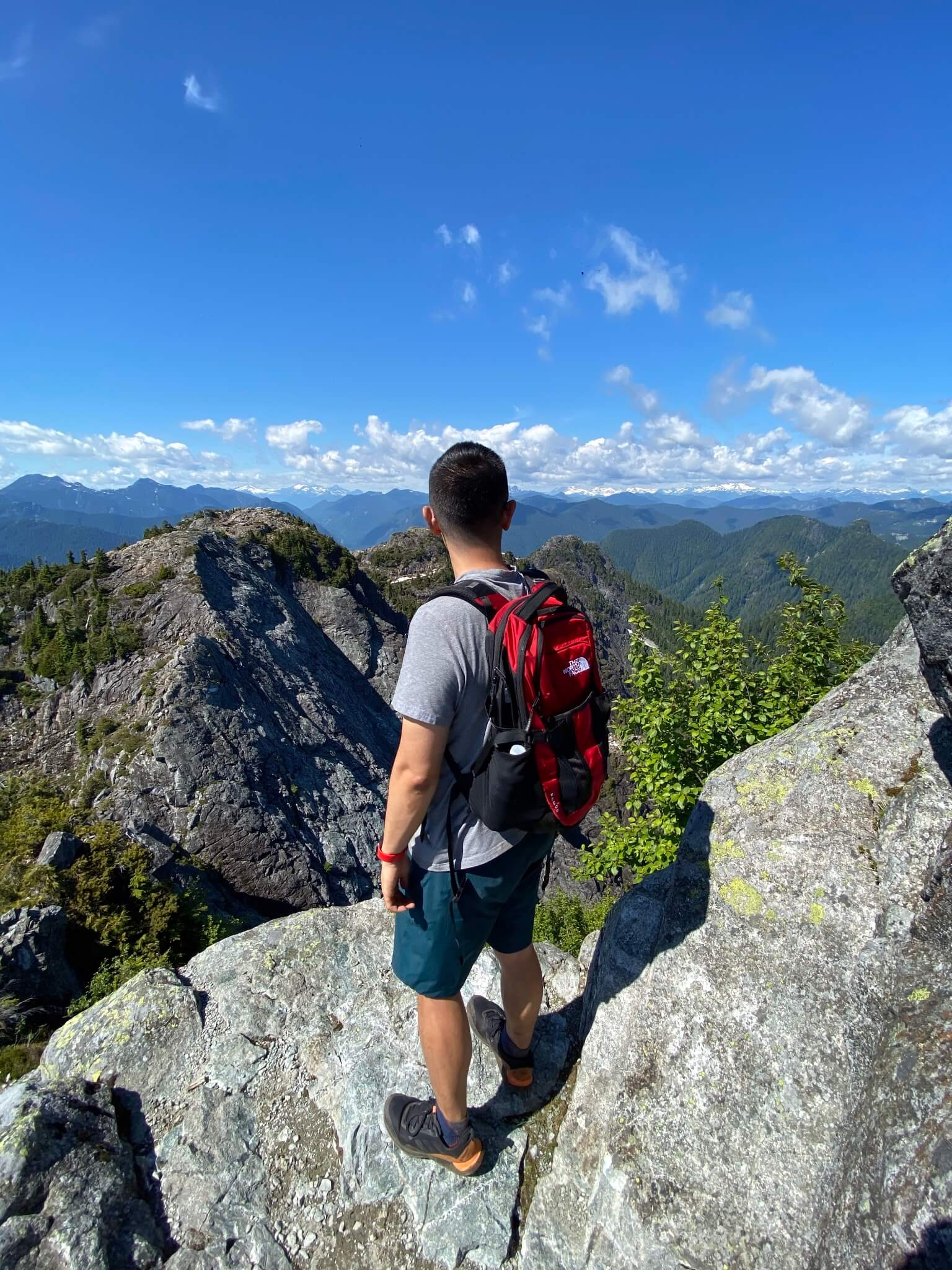 Taken at the top of Crown Mountain, with North Shore mountains in the background.